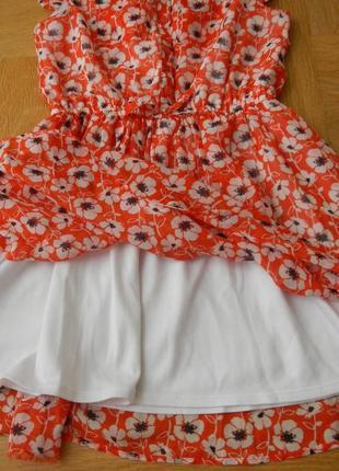 116 см next как новое шифоновое фирменное платье.