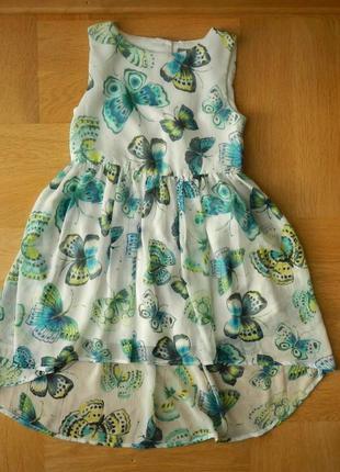 7 лет tu отличнейшее шифоновое фирменное платье.