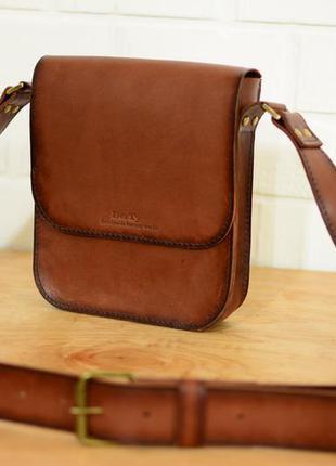 Итальянская кожа. ручная работа. кожаная коричневая мужская сумка через  плечо. барсетка a86a4d73b5f3b