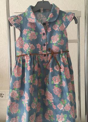 Платье в цветочек kenzo kids