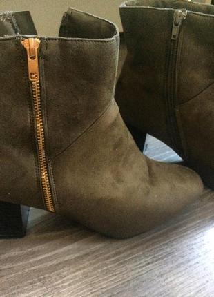 Замшевые ботинки полусапожки(1+1=3)