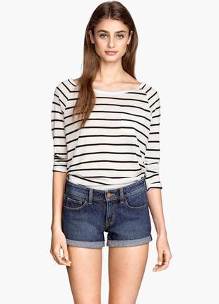 Джинсовые шорты короткие new look