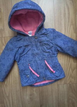 Демисезонная куртка, курточка, парка george на 9-12 мес, 1 год,  годик