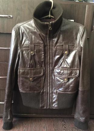 Кожаная куртка marks&spencer