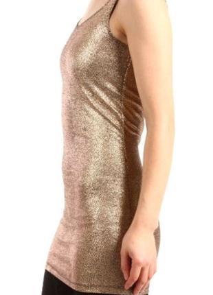 Супер платье с золотистым напылением