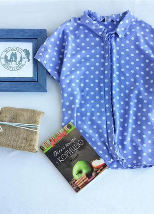 Лавандова блуза в горох від f&f