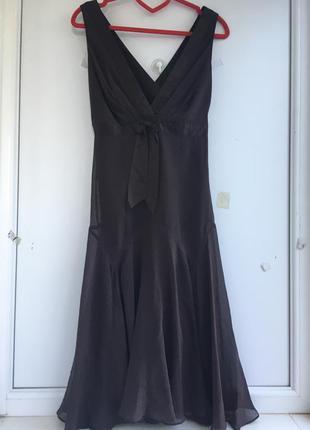 Нарядное шелковое платье сарафан, натуральный шёлк ted baker