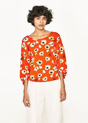 Блуза в цветочный принт от zara