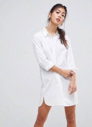Рубашка-туника белого цвета