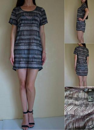 Легкое пляжное платье футболка, туника h&m (xs-s)