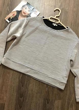 Укороченный свитер- оверсайз1