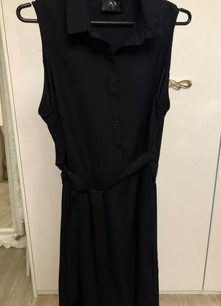 Черное базовое платье сарафан размер 12-14