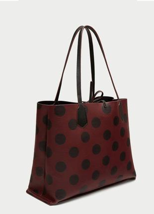 Двухсторонняя сумка шопер zara1 фото