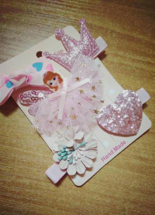 Набор заколок для девочки с принцессой эмбер, 5 штук разных