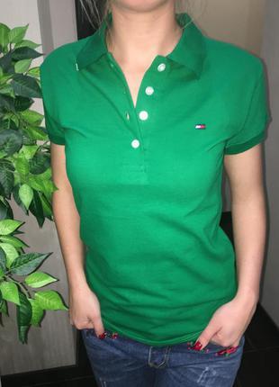Женская футболка поло тениска tommy hilfiger размер m
