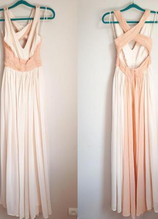 Платье макси с открытой спинкой asos