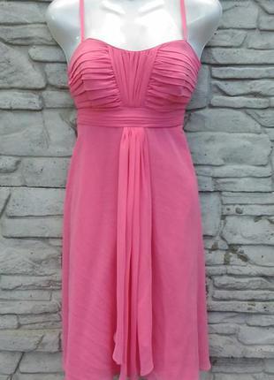 Распродажа!!! нарядное, вечернее, коктейльное платье розового цвета debut