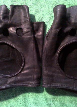 Мужские авто перчатки без пальцев для авто вождения №1