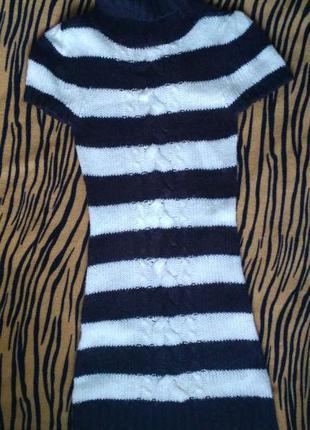 Платье теплое вязанное