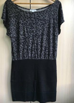 Платье-мини с леопардовым принтом