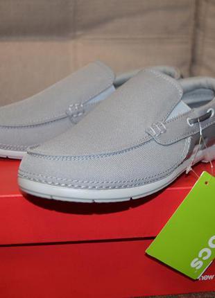 Летние туфли слипоны лоферы мокасины crocs m7 w9 (39 р - 25 см)