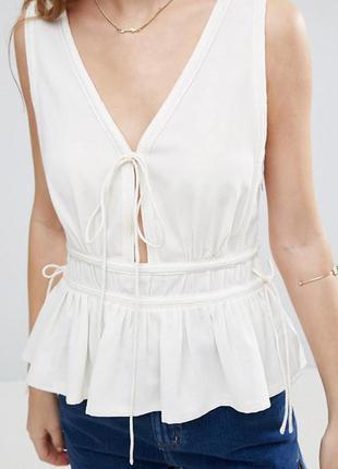 Молочная блуза asos,р-р 16