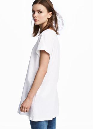Длинная футболка h&m арт 0240670