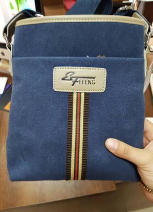 Новая джинсовая мужская сумка через плечо. барсетка
