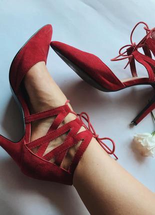 Нереальные красные туфли от atmosphere с шнуровкой🔥🔥🔥