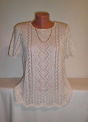 Очень красивая  ажурная блузка