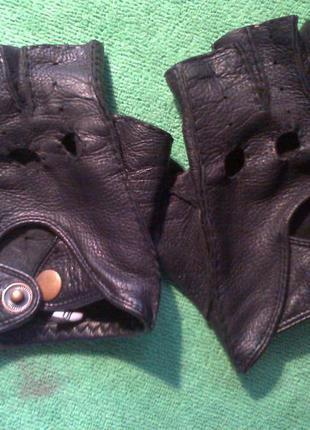 Мужские авто перчатки без пальцев для авто вождения №2