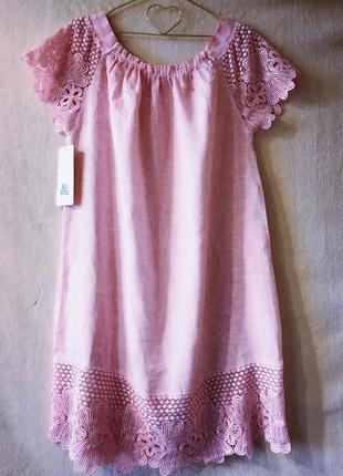 Платье лён пог 59