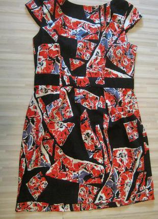 Яркое хлопковое платье на лето 52 размер.