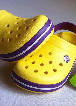 Новые! сабо crocs crocband размер j2 33 - 34 по стельке 21,5 см.оригинал !2 фото