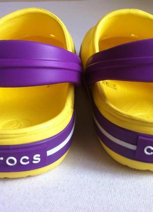 Новые! сабо crocs crocband размер j2 33 - 34 по стельке 21,5 см.оригинал !3 фото