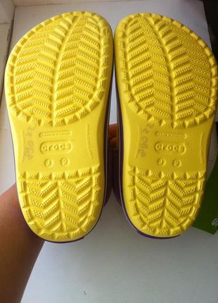 Новые! сабо crocs crocband размер j2 33 - 34 по стельке 21,5 см.оригинал !4 фото