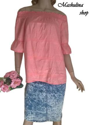 Милая блузочка с открытыми плечиками от f&f collection