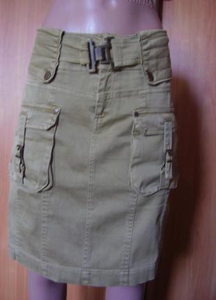 Качественная катоновая итальянская юбка на талию - 85-88 см