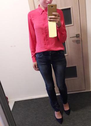 Удлиненная летняя блуза неон