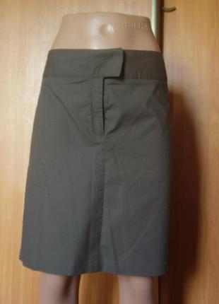 Лёгкая летняя из италии юбочка цвета хаки...на талию до 84 см