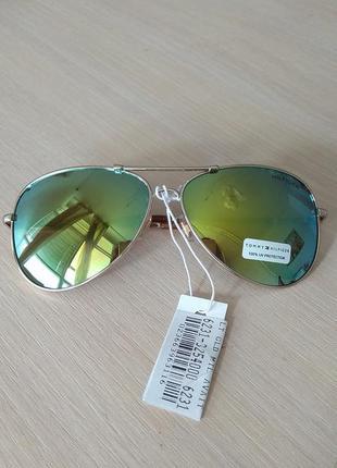 Солнцезащитные очки мужские брендовые tommy hilfiger авиаторы оригинал