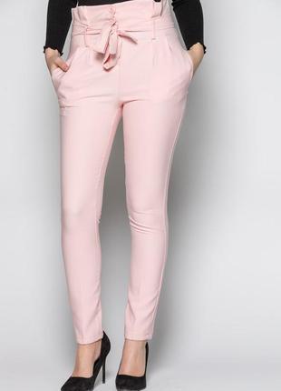 Трендовые белые брюки с высокой посадкой select