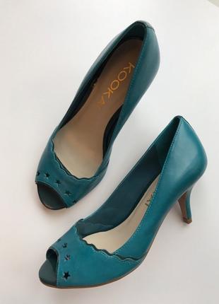 Кожаные туфельки kookai 36 р