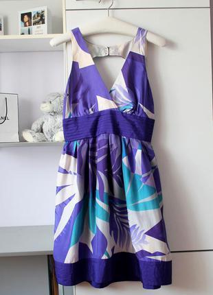 Шелковое красивое платье от warehouse, 100% шелк