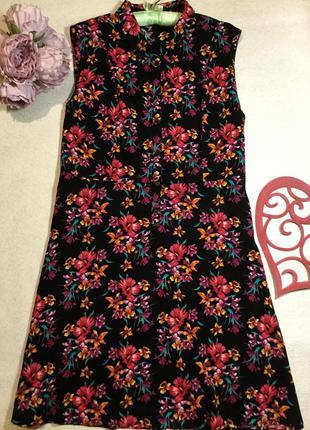 Платье вискоза в цветочный принт от peacocks 20 размер