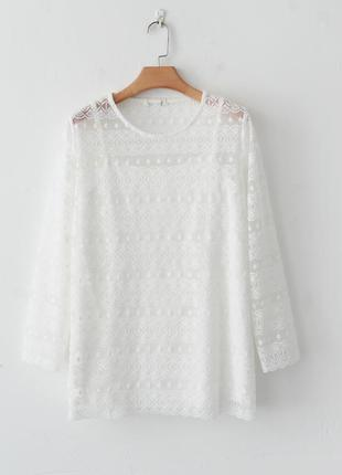 Женская кружевная блузка