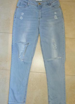 Классные джинсы байфренд stradivarius
