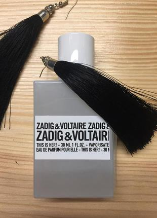 Парфюм от zadig & voltaire 30 мл