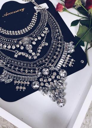 Шикарное колье ожерелье  в стиле бохо