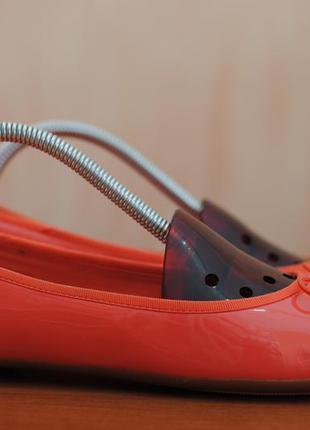 Женские оранжевые балетки, туфли clarks, кларкс. 38 размер. оригинал